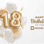 Die PresseBox feiert 18. Geburtstag!